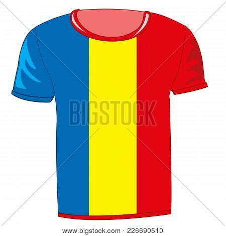 T-shirt With Flag Of The Republic Fume On White Background