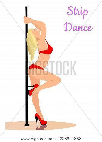 girl dancer female beauty silhouette figure body attractive appearance striptease dance grace movement underwear high heel shoes