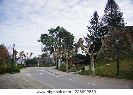 Park Near Ruins Of Castle Of Vigo, Vigo, Galicia, Spain