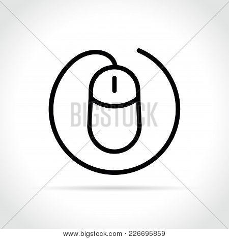 Illustration Of Mouse Icon On White Background