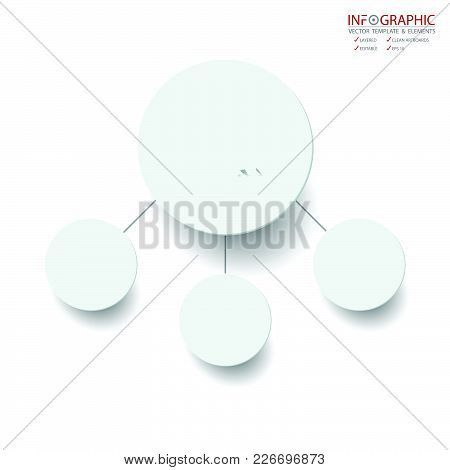 Vector Abstract Element Infographics 4 Option. Design For Business Or Finance Template Layout, Broch