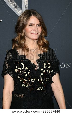 LOS ANGELES - FEB 13:  Jennifer Jason Leigh at the