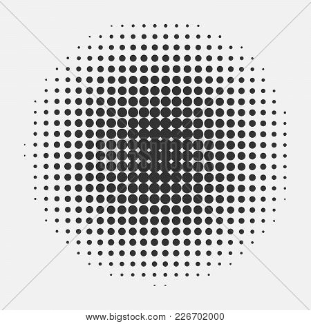 Halftone Circle Pattern. Vector Pop Art Retro Style Texture Background. Abstract Dotted Template Bac
