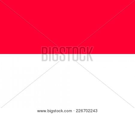 Flag of Monaco. Symbol of Independence Day, souvenir sport game, button language, icon.