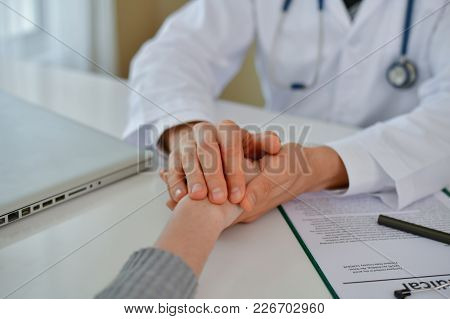 Terrible Medical Concept. Patients Stressful In The Doctor's Diagnosis. Patients Are Concerned About