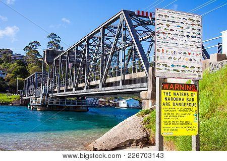 Steel Bridge In Narooma Australia New South Wales On 06.03.2017