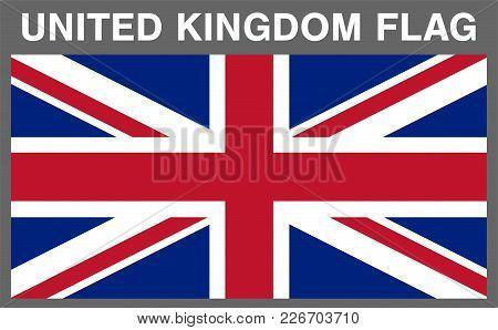 Real United Kingdom England Flag Vector Eps10