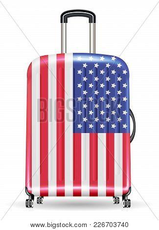 Travel Luggage Bag United State Of America Flag