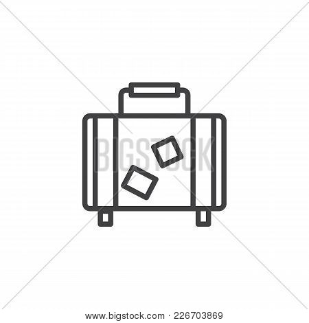 Travel Suitcase Outline Icon. Linear Style Sign For Mobile Concept And Web Design. Luggage Bag Simpl