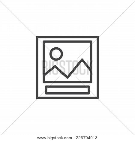 Landscape Photo Outline Icon. Linear Style Sign For Mobile Concept And Web Design. Picture Simple Li