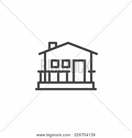 House Outline Icon. Linear Style Sign For Mobile Concept And Web Design. Home Simple Line Vector Ico