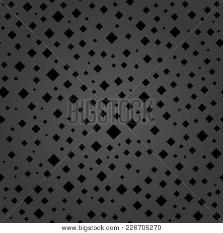 Seamless Vector Background With Random Elements. Abstract Ornament. Fine Abstract Pattern With Black