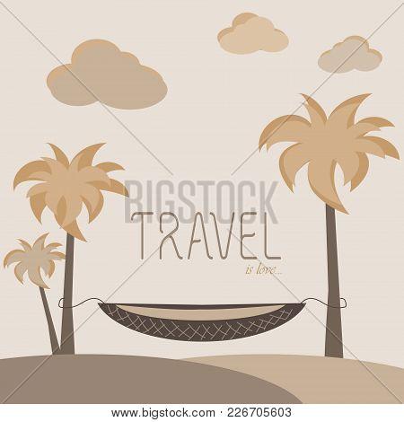 Palms, A Hammock, Clean Sea Air, Dreams Of Travel, A Paradise On The Coast