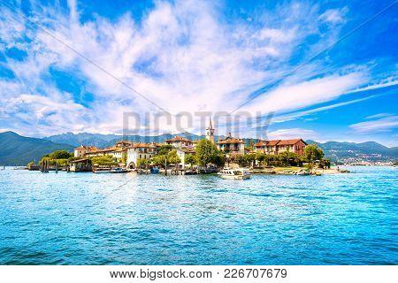 Isola Dei Pescatori, Fisherman Island In Maggiore Lake, Borromean Islands, Stresa Piedmont Italy, Eu