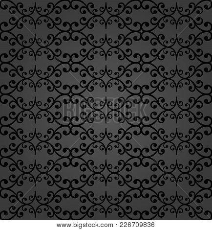 Classic Seamless Vector Pattern. Damask Orient Dark Ornament. Classic Vintage Background