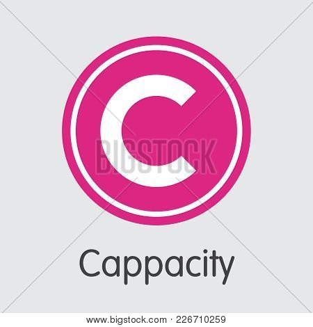 Cappasity. Digital Currency. Capp Icon Isolated On Grey Background. Stock Vector Web Icon.