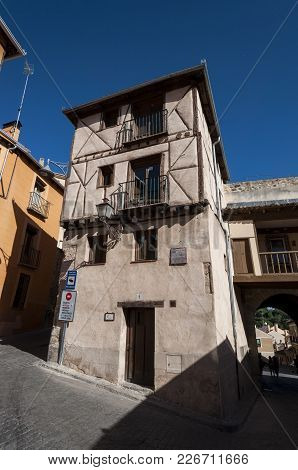 Segovia - May 16, 2015: Traditional Architecture In The Historic Centre Of Segovia, Spain On May 16,