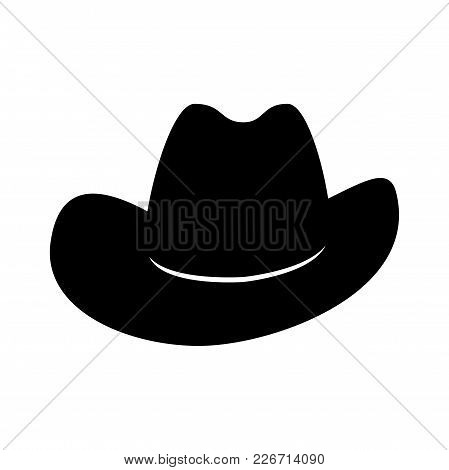 Cowboy Hat. Icon Isolated On White Background. Vector