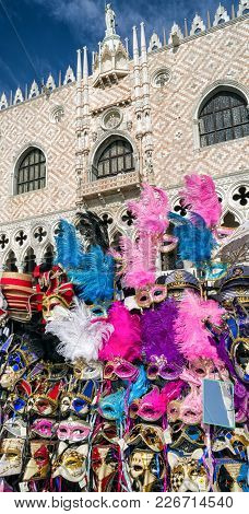 Shop With Carnival Masks In Venice, Italy 2018