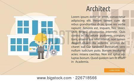 Architect Conceptual Banner | Set Of Great Banner Design Illustration Concepts For Building, Archite