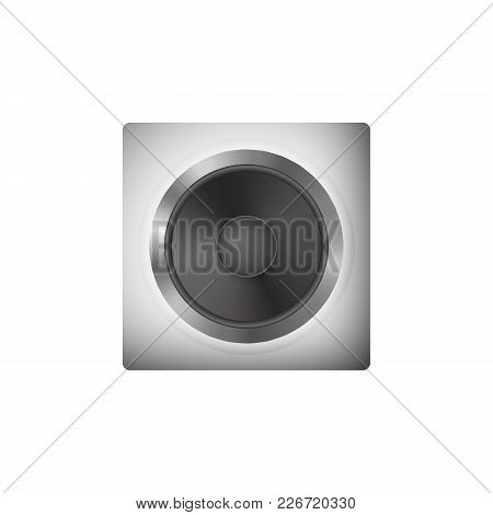 Sound Speakers For Pc. Loudspeaker Vector Illustration. Icon Audio System.