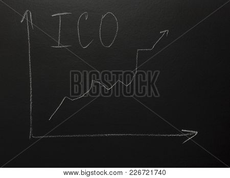 Graphic Bar On Blackboard With Text: Ico