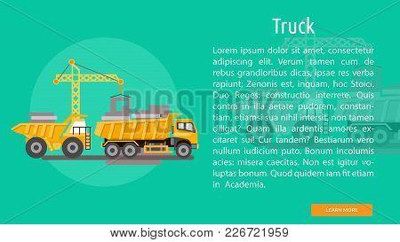 Truck Conceptual Banner | Set Of Great Banner Design Illustration Concepts For Building, Architect,