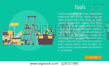 Tools Conceptual Banner | Set Of Great Banner Design Illustration Concepts For Building, Architect,
