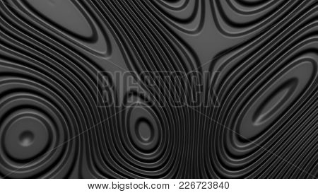 Stylish Black Colored Background With Flowing Lines. Abstract Topographic Map Contour Background. Bl