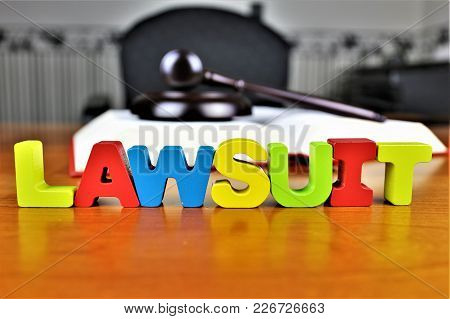 An Concept Image Of A Lawsuit, Legal, Lawyer