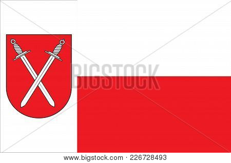 Flag Of Schwerte Is A Town In The District Of Unna, In North Rhine-westphalia, Germany. Vector Illus
