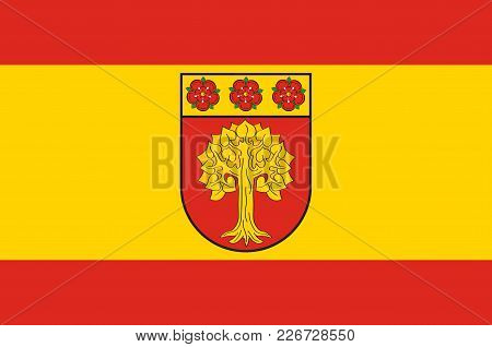 Flag Of Selm Is A Town In The District Of Unna, In North Rhine-westphalia, Germany. Vector Illustrat