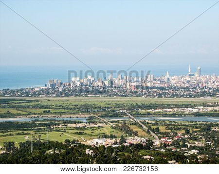 Batumi City Center, Georgia, View Of The City And The Sea From Observation Deck