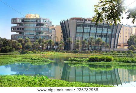 BANGALORE INDIA - Dec 14 : Bagmane Tech Park is a software technology park equipped with all modern class facilities. On December 14, 2015 Bangalore, India