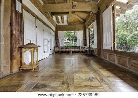 Seoul, South Korea - September 15: Inside The Old House  At Namsangol Hanok Village  Photo Taken On