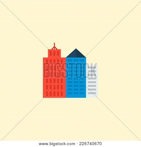 New York Icon Flat Element. Vector Illustration Of New York Icon Flat Isolated On Clean Background F