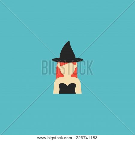 Witch Icon Flat Element. Vector Illustration Of Witch Icon Flat Isolated On Clean Background For You
