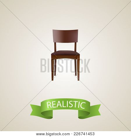 Stool Realistic Element. Vector Illustration Of Stool Realistic Isolated On Clean Background For You