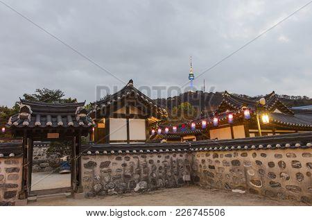 Korea Old House At Namsangol Hanok Village In Seoul South Korea.