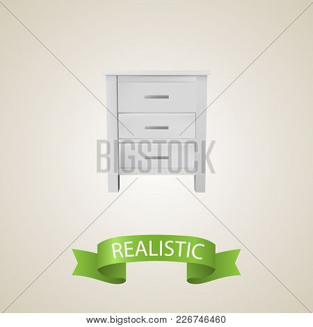 Closet Realistic Element.  Illustration Of Closet Realistic Isolated On Clean Background For Your We