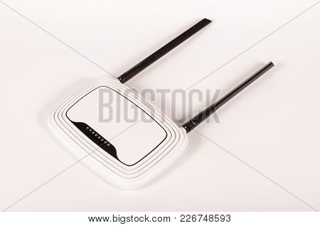 Wireless Router For Wifi Hotspots On The White Background