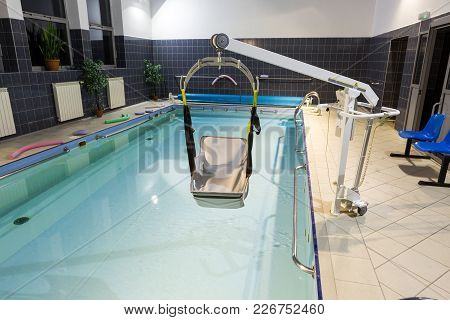 Wisla, Poland - October 23, 2105: Hydrotherapy Pool At The Rehabilitation Center For The Disabled In