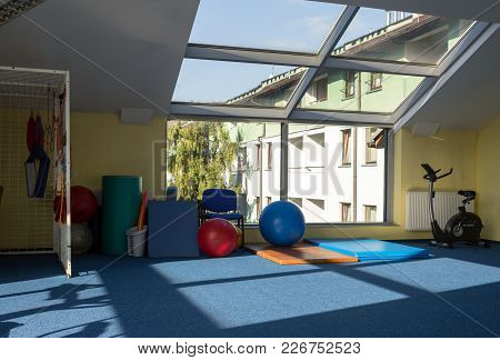 Wisla, Poland - October 23, 2105: Gym And Fitness Room At The Rehabilitation Center For The Disabled