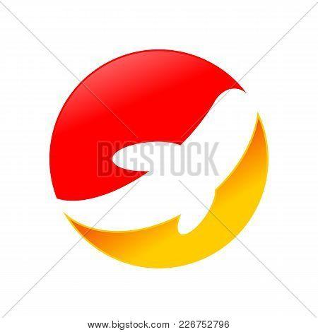 Abstract Koi Fish Vector Symbol Graphic Logo Design