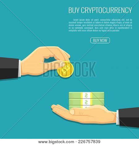 Vector Illustration. Crypto Currency Information. Background For Advertising Electronic Money. New T