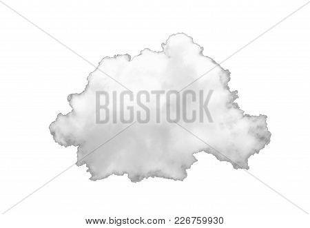 Single White Cloud Isolated On White Background