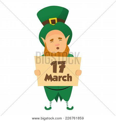 Leprechaun Patrick Icon. Cartoon Illustration Of Leprechaun Patrick Vector Icon For Web