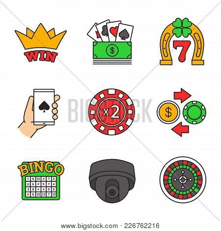 Casino Color Icons Set