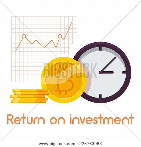 Return On Investment Icon. Cartoon Illustration Of Return On Investment Vector Icon For Web