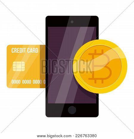 Bitcoin Exchange Icon. Cartoon Illustration Of Bitcoin Exchange Vector Icon For Web